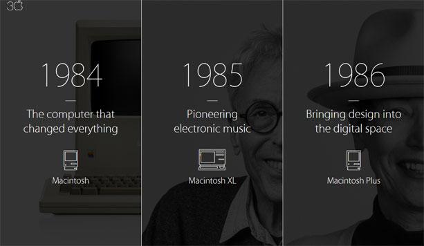 米AppleがMac30周年の特設ページを公開!日本人も写ってる!