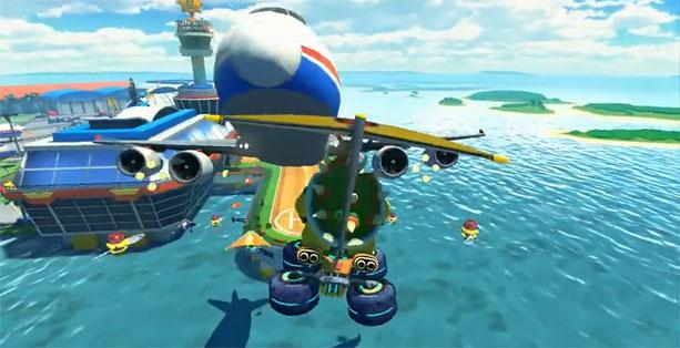 【動画】『マリオカート8』の出典映像が公開。飛行機と対面走行!?