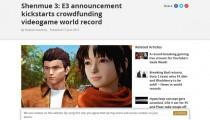 「シェンムーIII」早くもクラウドファンディング300万ドル達成!