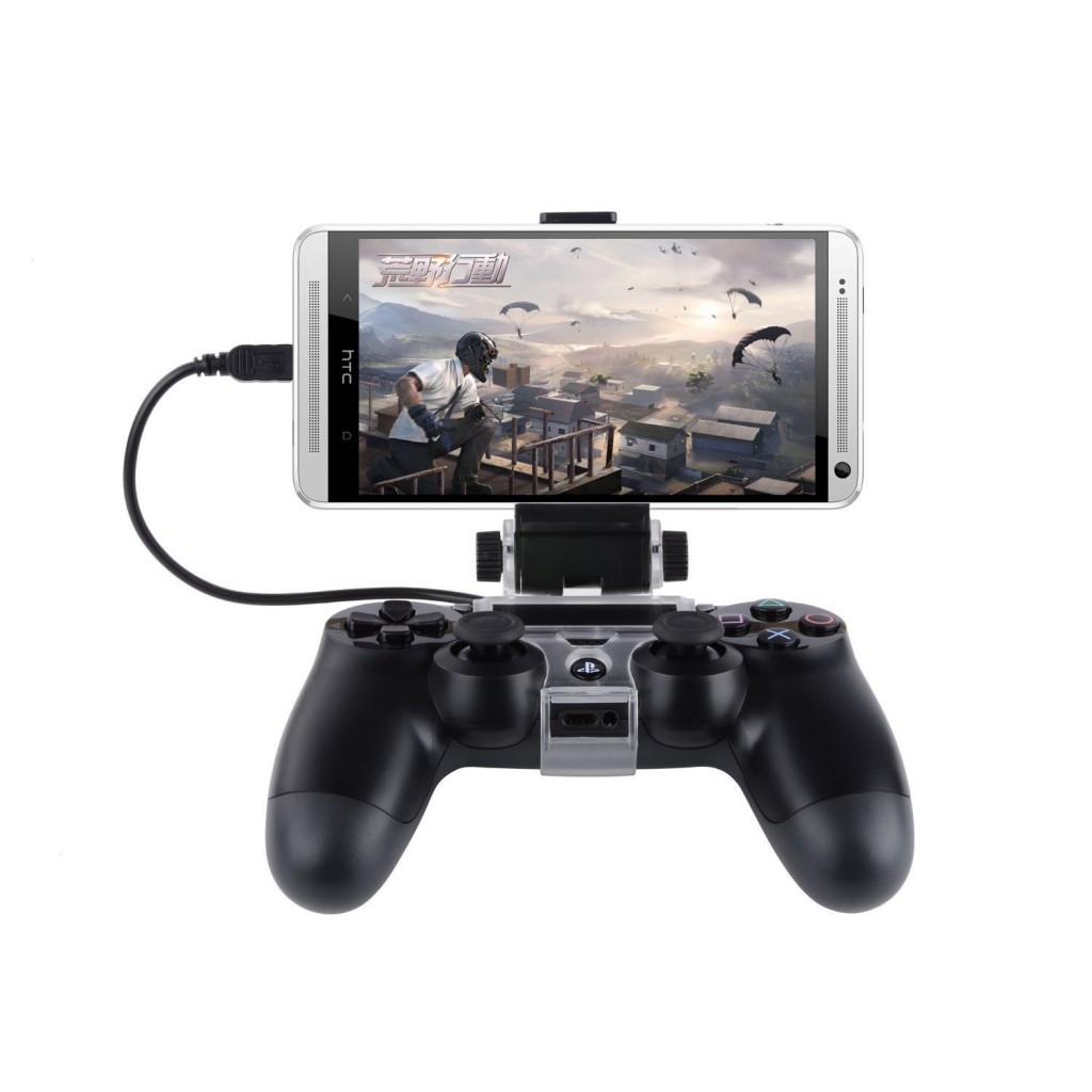 PS4コントローラー用 スマホマウントホルダー スマホで使用できるゲームグッズ・アクセサリー